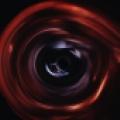Ilustracja czarnej dziury. Wizja artystyczna.